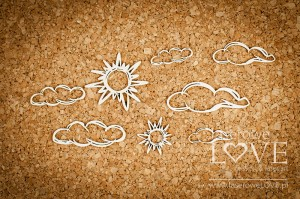 Chipboard - Clouds and sun - Ocean Adventure