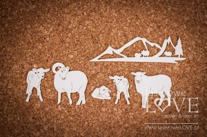 Chipboard - Sheep - Forest Camp