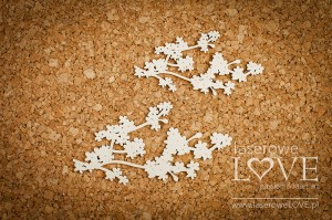 .Chipboard - Cherry branch - Wedding Day