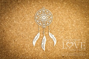 Chipboard - Dreamcatcher Indiana leaves