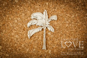 Chipboard - Layered palm tree - Vintage Tropical Island