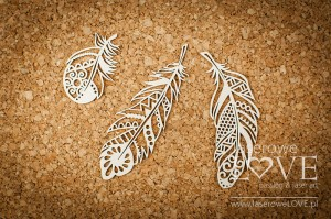 Chipboard - Decorative feathers - Indiana