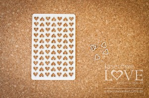 Chipboard - Hearts outline small set in a blister