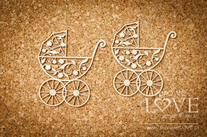 Chipboard - Troley 2 items - Baby lily