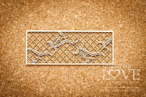 Chipboard - Highlander ornament with grain in the frame, mesh- Tatra life