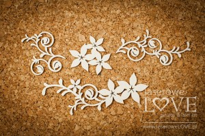Chipboard -  Ornaments with flowers - Flower