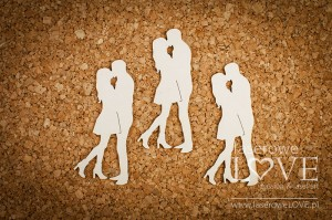 .Chipboard - Kissing couple - Wedding Day