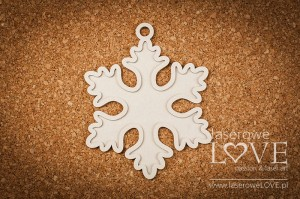 Chipboard - Snowflake base - Christmas with elves