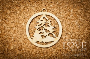 Plywood - Decoration - Christmas trees with snow 2 items