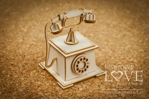 Chipboard - Antique telephone 3D - Vintage Trip