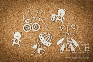 .Chipboard - Toys for girl - Vintage Baby