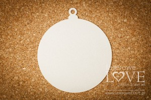 Chipboard - Base of card in bauble shape - Winter Song