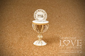 Chipboard - Chalice with ornaments 3D - El Santo Rosario
