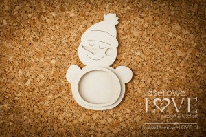 Chipboard - Snowman shaker box - Winter Fun