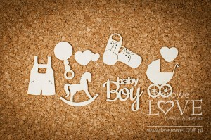 .Chipboard - Set for a boy - Emma & Billy
