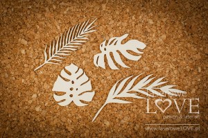 Chipboard - Tropical leaves - Vintage Tropical Island