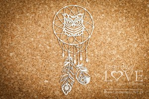 .Chipboard - Dreamcatcher with owl - Indiana