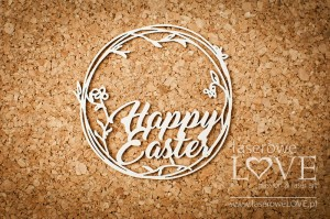 .Chipboard -  Inscription  Happy Easter - Easter Bunny