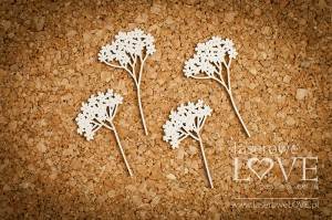.Chipboard - Flowers of yarrow - Wedding Day