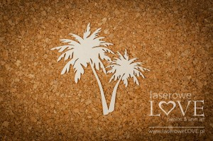 Chipboard - Palm trees - Vintage Tropical Island