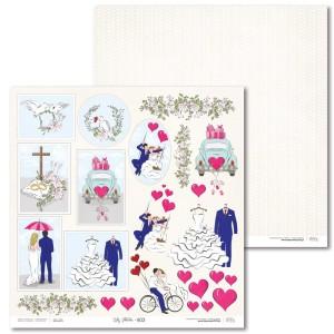 Papier 30 x 30 cm - Lily Flower - Extra - E03 - Laserowe LOVE