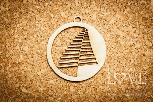 Plywood - Decoration - Modern Christmas tree
