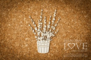 .Chipboard - Pot with lavender - Sweet Lavender