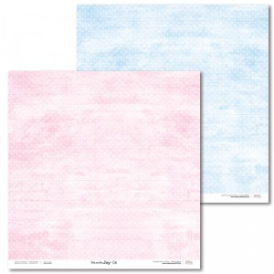 Papier 30x30 cm - Pink and Blue JOY - 06 - Laserowe LOVE