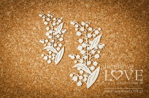 Chipboard - Lilly of the valley - El Santo Rosario