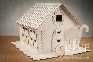 Chipboard - Gingerbread house 3D - Advent Calendar - Christmas with elves