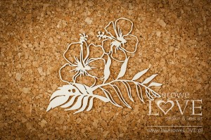 Chipboard - Hibiscus - Vintage Tropical Island