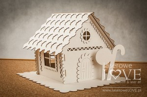 Chipboard - Gingerbread house BIG 3D - Christmas with elves