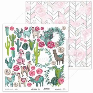 Papier 30 x 30 cm - Love Llama - 06 - Laserowe LOVE
