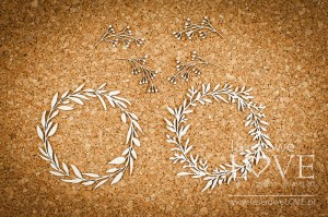 Chipboard - Two wreaths - Love Llama