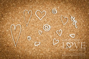 Chipboard - Hearts  - Love Llama