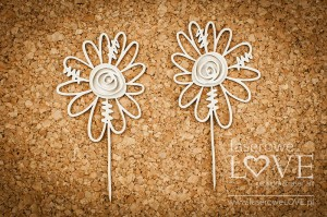 .Chipboard - Two flowers - Love Llama