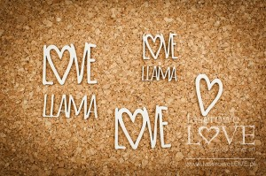 Chipboard - Text Love Llama - Love Llama