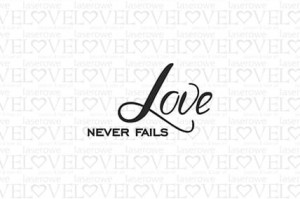 Stempel gumowy - Love never fails - Love Llama