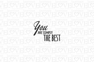 Stempel gumowy - You are simply the best - Love Llama