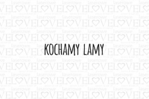 Rubber stamp - Kochamy Lamy - Love Llama