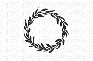 Rubber stamp - Wreath 2 - Love Llama