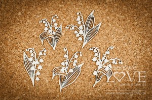 .Chipboard - Bouquets with lilies of the valley - First Love