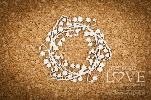 .Chipboard -  Chipboard - Wreath with lilies of the valley - First Love