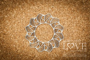 .Chipboard -  Round frame - First Love
