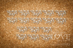.Chipboard - Borders with rosettes - First Love