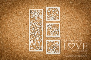 .Chipboard - Lilies of the valleys background elements - First Love