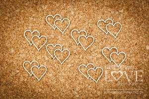 .Chipboard - Hearts- First Love