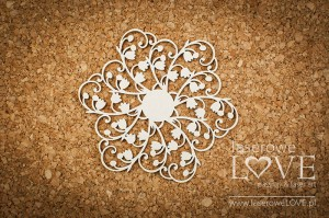 .Chipboard - Doily with lilies of the valley - First Love