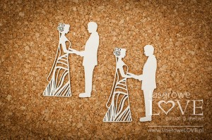 Chipboard - Wedding couples - First Love