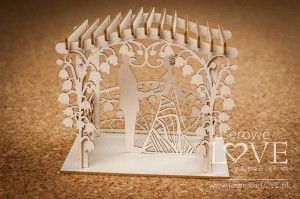 Chipboard - Wedding couple in a gazebo, 3D - First Love